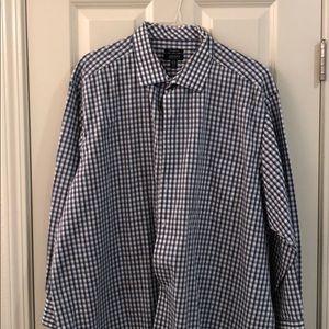 Alfani mens button down dress shirt